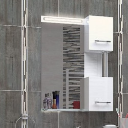 Горен шкаф за баня Krista, LED осветление - Шкафове за Баня