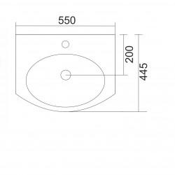 Мивка Fayans Neo 55см. 8103940001041 - Мивки и Смесители