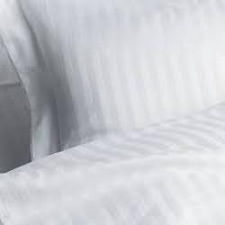 White Boutique Калъфки за Възглавници/ Памучен Сатен Бяло Райе - Спално бельо