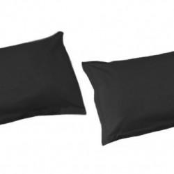 White Boutique Калъфки за Възглавници/ Памучен Сатен Черно - Спално бельо