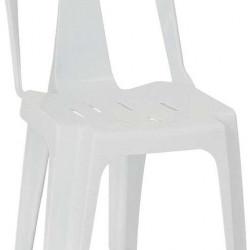 Пластмасов стол модел BM-Gul, бял - Градински столове