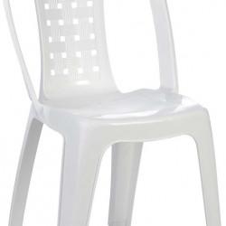 Пластмасов стол модел BM-Estela, бял - Градински столове