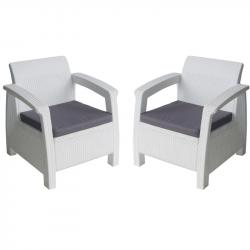 Комплект 2 кресла с възглавници Memo.bg BM-15 - Градински комплекти