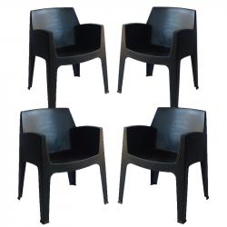 Комплект 4 кресла Memo.bg BM Ston-23 - Градински комплекти