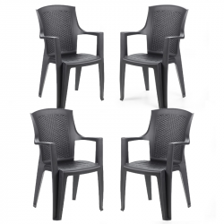 Комплект 4 стола Memo.bg BM-Edina-27 - Градински комплекти