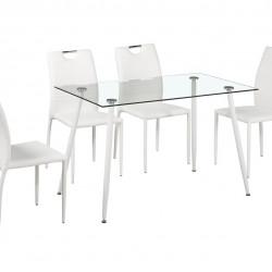 Комплект маса със столове Memo.bg модел Hans White BM - Комплекти маси и столове