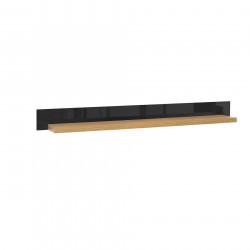 Полица Memo.bg модел 1-Arosa POL/150 BM, размери: 150/25.5/14 см, цвят: черен гланц, натурал - Етажерки