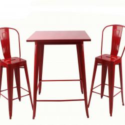 Бар маса Memo.bg модел 22-Linda, цвят: червен -