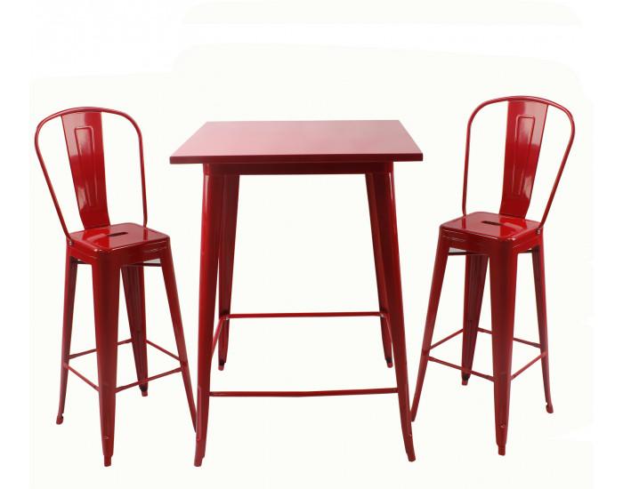 Бар маса Memo.bg модел 22-Linda, цвят: червен - Бар маси