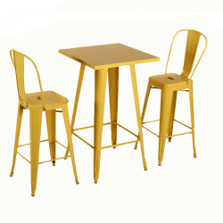 Бар маса Memo.bg модел 22-Linda, цвят: жълт -
