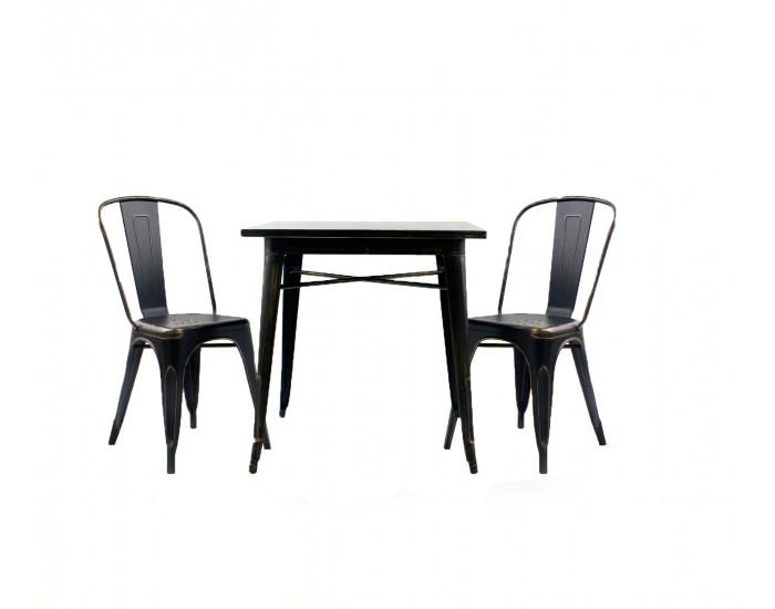 Бар маса Мебели Богдан модел 19-Kubo BM, цвят: антично черен - Бар маси