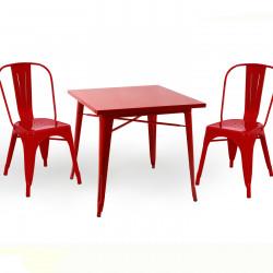 Бар маса Memo.bg модел 18-Kubo BM, цвят: червен -