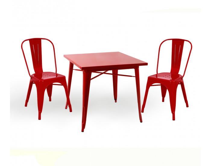 Бар маса Memo.bg модел 18-Kubo BM, цвят: червен - Бар маси
