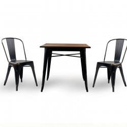 Бар маса Memo.bg модел 19-Kubo Wood BM, цвят: антично черен -