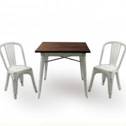 Бар маса Memo.bg модел 19-Kubo Wood BM, цвят: антично бял -