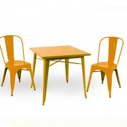 Бар маса Memo.bg модел 18-Kubo BM, цвят: жълт -