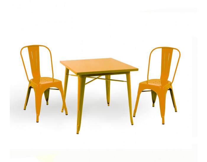 Бар маса Memo.bg модел 18-Kubo BM, цвят: жълт - Бар маси