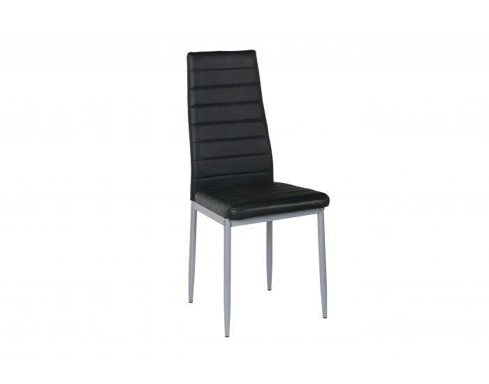 Трапезен стол Мебели Богдан модел BM204, цвят черен -