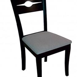 Трапезен стол Memo.bg модел 46-BM Manfred венге, размери: 42/55/90 см, материал: масив бук / дамаска - Evromar