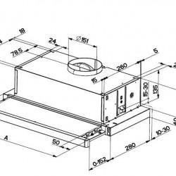 Телескопичен аспиратор Franke Pull Out Hood FTC 6032 GR/XS - Аспиратори