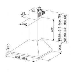 Каминен аспиратор Franke Joy FJO 604 W XS - Аспиратори