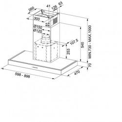 Каминен аспиратор Franke Format 70 FDF 6457 XS  - Аспиратори