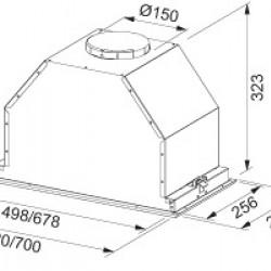 Аспиратор за пълно вграждане Franke Box FBI 537 XS - Аспиратори