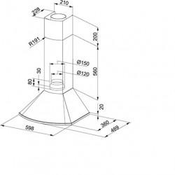 Класически каминен аспиратор Franke Sirio FDS 654 XS - Аспиратори