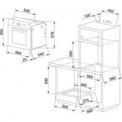 Фурна за вграждане Franke New Glass Linear GN 86 M NT XS - Фурни за вграждане