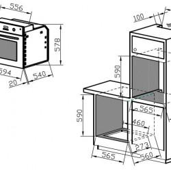 Фурна за вграждане Franke Cartesio Linear GL 66 MN T WH - Фурни за вграждане
