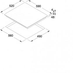 SMART плот с индукционни котлони Franke FHSM 302 2I BK - Котлони