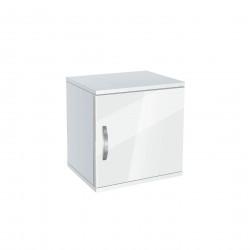 Нощно шкафче Memo.bg, модел BM-Ava 1, бял гланц - Нощни шкафчета