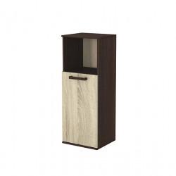 Шкаф с вратичка 11, венге с дъб сонома - Мебели за детска стая