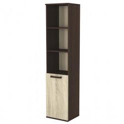 Шкаф с вратичка 13, венге и сонома - Мебели за детска стая