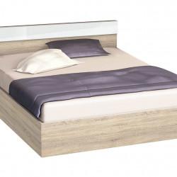Легло с табла и бленда Memo.bg, модел BM-Ava, цвят Гб сонома и бяло гланц - Легла