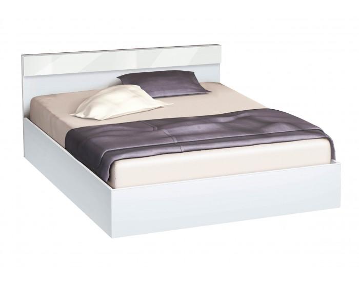 Легло с табла и бленда Мебели Богдан, модел BM-Ava, цвят бяло гланц
