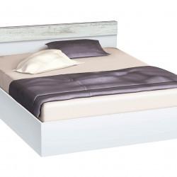 Легло с табла и бленда Memo.bg, модел BM-Ava, цвят бяло гланц и кристал - Легла