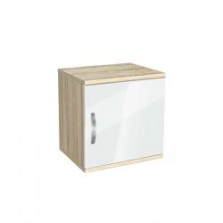Нощно шкафче Memo.bg, модел BM-Ava 1, ГБ сонома и бяло гланц - Нощни шкафчета