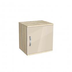 Нощно шкафче Memo.bg, модел BM-Ava 1, ГБ сонома и крем гланц - Нощни шкафчета