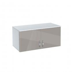 Надстройка за гардероб Memo.bg, модел BM-Ava 2, бял гланц и сиво - Гардероби