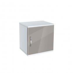 Нощно шкафче Memo.bg, модел BM-Ava 1, бял гланц и сиво - Нощни шкафчета