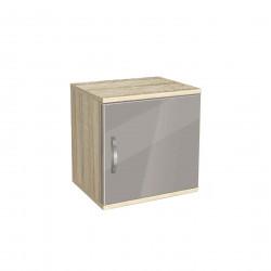 Нощно шкафче Memo.bg, модел BM-Ava 1, ГБ сонома и сиво гланц - Нощни шкафчета