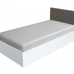 Легло Мебели Богдан модел BM-Kasa, Бяло с Тапицирана Сива табла - Легла