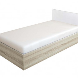 Легло Мебели Богдан модел BM-Kasa, Сонома с Тапицирана Бяла табла - Легла