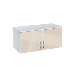 Надстройка за двукрилен гардероб Мебели Богдан модел BM-AVA 2, крем гланц с бяло - Гардероби