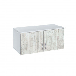 Надстройка за двукрилен гардероб Мебели Богдан модел BM-AVA 2,кристал с бяло - Гардероби
