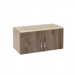 Надстройка за двукрилен гардероб Мебели Богдан модел BM-AVA 2, орех със сонома - Гардероби