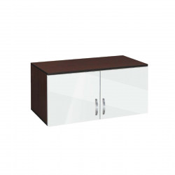 Надстройка за двукрилен гардероб Мебели Богдан модел BM-AVA 2, бял гланц с венге - Гардероби