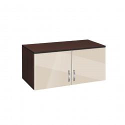 Надстройка за двукрилен гардероб Мебели Богдан модел BM-AVA 2, крем гланц с венге - Гардероби