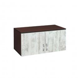 Надстройка за двукрилен гардероб Мебели Богдан модел BM-AVA 2, кристал с венге - Гардероби
